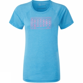 Ronhill Ronhill Womens Aspiration Everyday S/S Tee Sky Blue/Rose