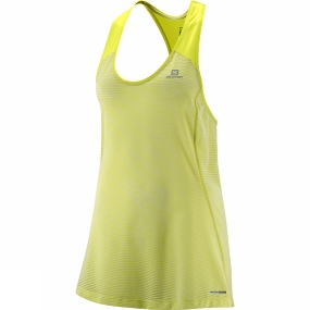 Salomon Salomon Womens Elevate Tank Tunic Yuzu Yellow