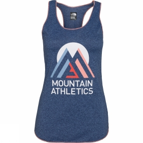 The North Face Womens Graphic Play Hard Tank Patriot Blue Heather