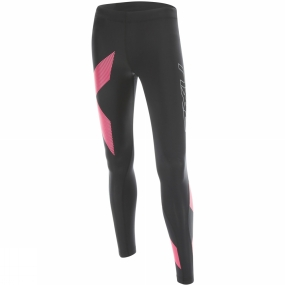 Runners Need 2XU 2XU Compression Tights BLK/Stripped Pink Glow