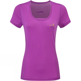 Ronhill Ronhill Womens Stride Zeal Short Sleeve Tee Thistle/Citrus