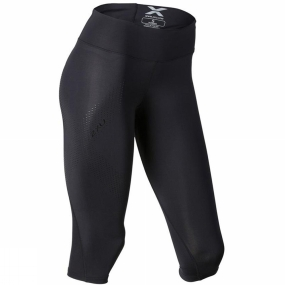 2XU 2XU Womens Mid-Rise Compression 3/4 Tights Black