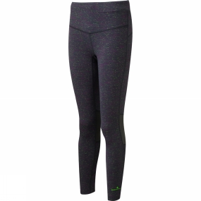 Ronhill Ronhill Womens Infinity Tights Grape Juice/Fluo Yellow