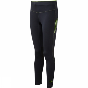Ronhill Ronhill Womens Stride Stretch Tights Black/Fluo Yellow