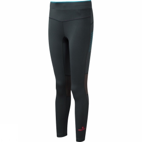 Ronhill Ronhill Womens Stride Stretch Tights Charcoal/Deep Cyan
