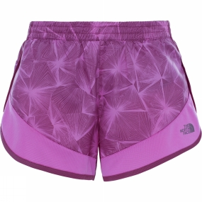 The North Face Womens Altertude Hybrid Short Wood Violet Linear Floral Print
