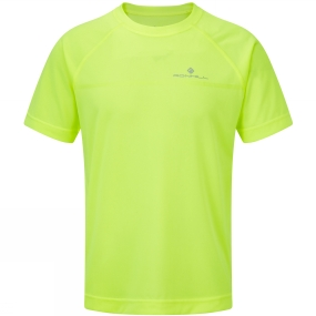 Ronhill Ronhill Kids Everyday Short Sleeve Tee Fluo Yellow