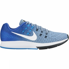 Nike Mens Zoom Structure 19 Shoe BLUE GREY/WHITE-RACER BLUE-BLUE GLOW