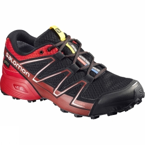 Salomon Salomon Mens Speedcross Vario GTX Shoe Black / Radiant Red