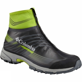Columbia The Mens Mountain Masochist IV OutDry Ex Shoe from Columbia has an integrated softshell gaiter for comfort and an OutDry Extreme waterproof shell to make sure water stays out. The FluidFoam midsole provides exceptional cushioning and a smooth ride while Gryptonite and TrailShield make sure your feet won