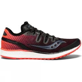Running Shoes Saucony Womens Freedom ISO Black/Vizi Red
