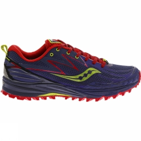 Saucony Womens Peregrine 5 Shoe Purple/Red