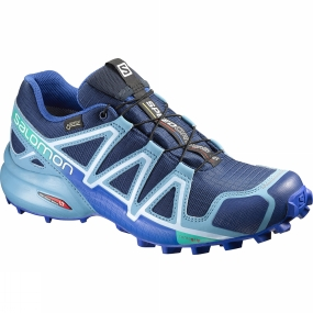 Salomon Womens Speedcross 4 GTX Shoe Blue Depth / Blue Gum