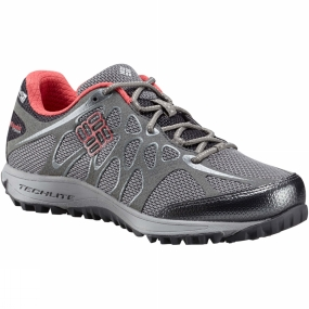 Columbia Columbia Womens Womens Conspiracy Titanium OutDry Shoe Quarry / Sunset Red