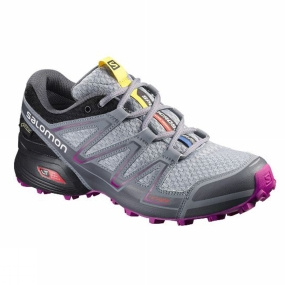 Salomon Salomon Womens Speedcross Vario GTX Shoe Light Onix / Black