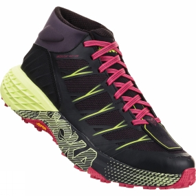 "Hoka One One One of the BEST Womens trail running shoes this year -Inspired by Karl Melzter, who holds the record for most 100-mile trail race wins, the fastest completion of the (2,190 mile) Appalachian Trail, and epitomizes the ""go everywhere, run everything"" attitude, this shoe is designed to attack all breeds of technical trail. And with this bold, fully redesigned iteration, we"