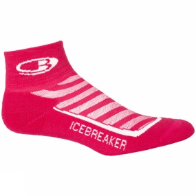 Icebreaker Icebreaker Womens Run+ Light Mini Sock Cherub/White