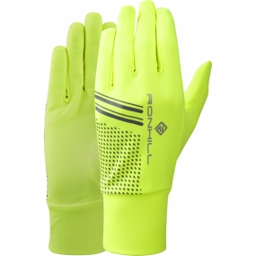 Ronhill Beanie and Glove Set Fluo Yellow/Black