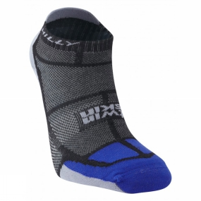 Hilly Hilly Twin Skin Socklet Black / Electric Blue / Grey