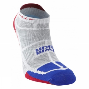 Hilly Hilly Twin Skin Socklet Grey / Electric Blue / Red