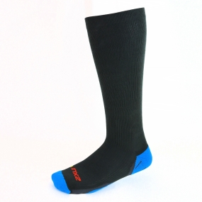 2XU Mens 24/7 Compression Socks Grey/Blue