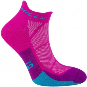 Hilly Womens Cushion Socklet FPink/Blue/Thistle
