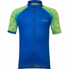 Vaude Vaude Mens Crystix Tricot Cycle Jersey Hydro Blue