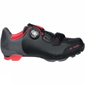 Vaude The Mens MTB Snar Pro Shoe from Vaude is designed for ambitious cross country riders. The SNAR Pro combines all that a good MTB shoe has to offer: perfect fit, optimum power transfer and good grippy traction. The robust, seamless upper material ensures stability and can be perfectly adapted to the contours of the foot by the Boa L6 dial closure. Practical advantage: the Boa system allows you to micro-adjust even while riding. The brushed heel lining as well as the anatomically formed insole support an athletic fit. Ventilation holes in the middle / forefoot as well as in the tongue keep feet well ventilated and comfortable, even during all-out ascents. Toe and heel caps protect against wear and tear, as well as rock strikes on rough terrain.