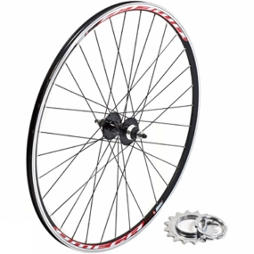 Raleigh Raleig Wheel Track D/Wall Rear Black/Silver