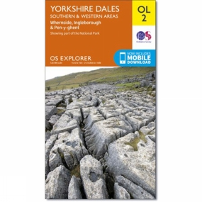 Ordnance Survey Active Explorer Map OL2 Yorkshire Dales - Southern and Western Area