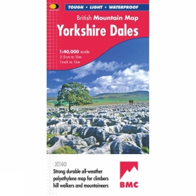 Harvey Maps Yorkshire Dales British Mountain Map 1:40K