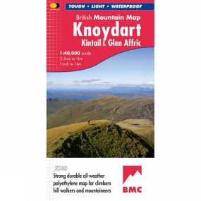 Harvey Maps Knoydart Kintail & Glen Affric British Mountain Map 1:40K