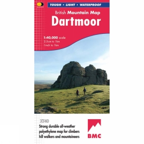 Harvey Maps Dartmoor British Mountain Map 1:40K
