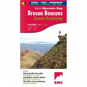 Harvey Maps Brecon Beacons British Mountain Map 1:40K