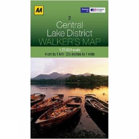AA Maps Central Lake District Map 02 No Colour