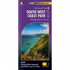 Harvey Maps South West Coast Path 1 Map 1:40K