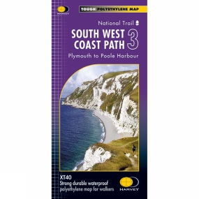 Harvey Maps South West Coast Path 3 Map 1:40K