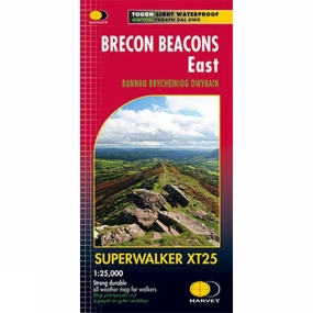 Harvey Maps Brecon Beacons East Map 1:25K