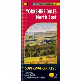 Harvey Maps Yorkshire Dales North East Superwalker 1:25K