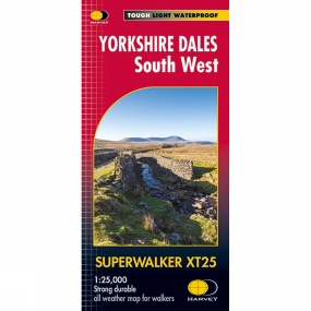 Harvey Maps Yorkshire Dales South West Superwalker Map 1:25K