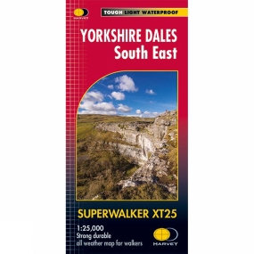 Harvey Maps Yorkshire Dales South East Superwalker Map 1:25K