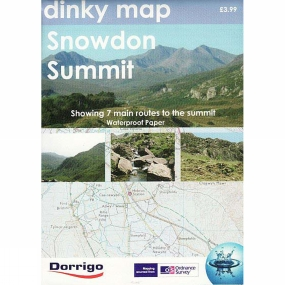Cotswold Outdoor Dinky Map: Snowdon Summit No Colour
