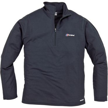 Mens Relaxed LS Zip Top