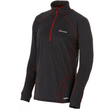Mens Active Thermal Long Sleeve Zip Neck