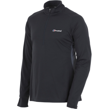 Mens Tech Tee Long Sleeve Zip Neck