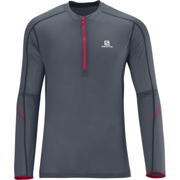 Mens Trail Runner Long Sleeve Zip Tee