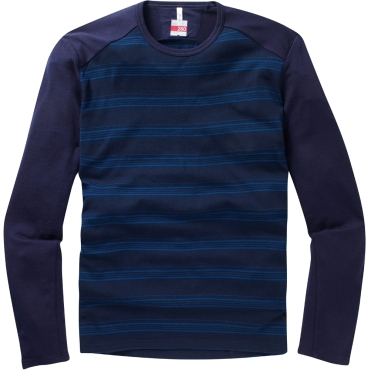 Mens Tech Long Sleeve Crewe Stripe