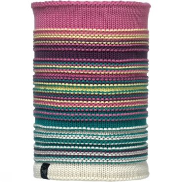 Knitted and Polar Fleece Neckwarmer Striped