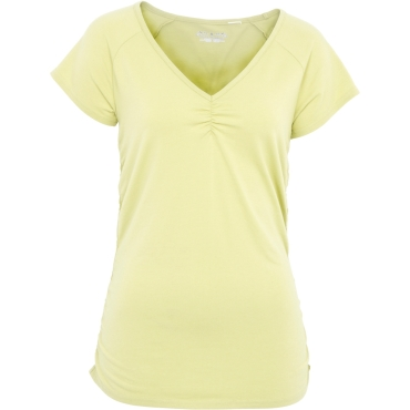 Womens Essential Ruched V-Neck