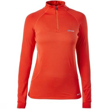 Womens Thermal L/S Zip Neck Top